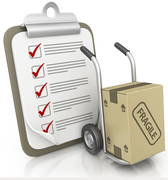att tänka på när du flyttar - Checklista
